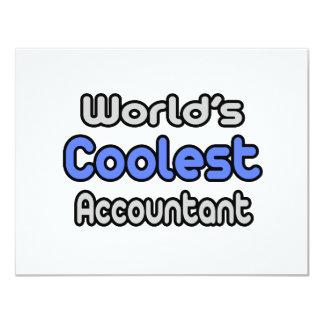 World's Coolest Accountant 4.25x5.5 Paper Invitation Card