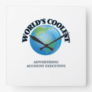 wORLD'S COOLEST aDVERTISING aCCOUNT eXECUTIVE Wall Clock