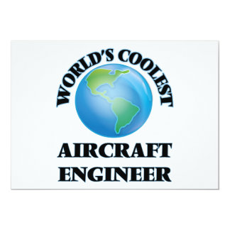 wORLD'S COOLEST aIRCRAFT eNGINEER 5x7 Paper Invitation Card