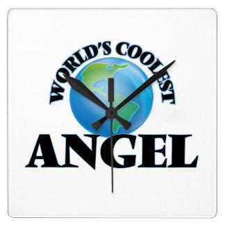 World's Coolest Angel Square Wall Clocks