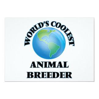 wORLD'S COOLEST aNIMAL bREEDER 5x7 Paper Invitation Card
