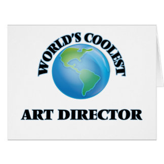 wORLD'S COOLEST aRT dIRECTOR Large Greeting Card