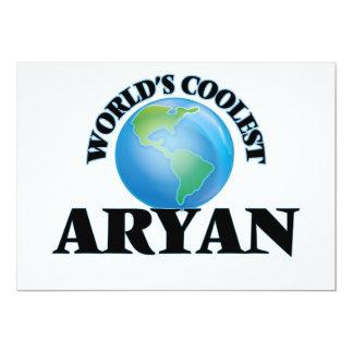 "World's Coolest Aryan 5"" X 7"" Invitation Card"