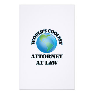 wORLD'S COOLEST aTTORNEY aT lAW Stationery Design