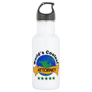 World's Coolest Attorney Stainless Steel Water Bottle