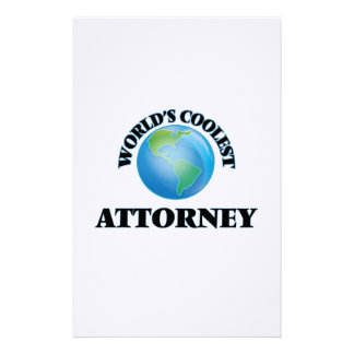 wORLD'S COOLEST aTTORNEY Customized Stationery