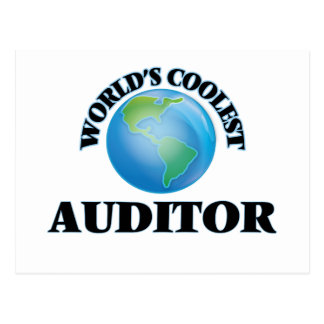 wORLD'S COOLEST aUDITOR Post Cards