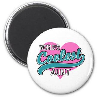 World's Coolest Aunt 2 Inch Round Magnet