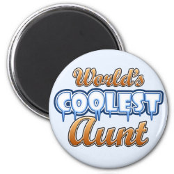 Round Magnet with World's Coolest Aunt design