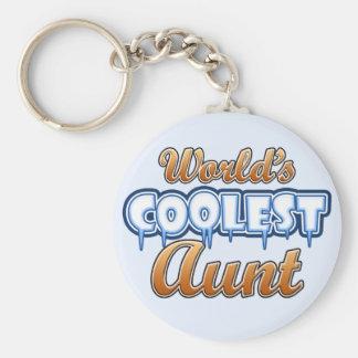 World's Coolest Aunt Basic Round Button Keychain