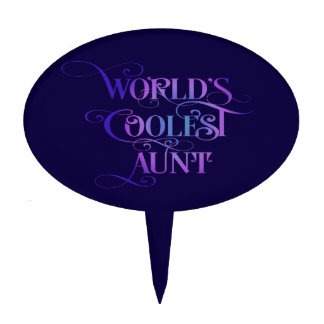 World's Coolest Aunt Cake Topper
