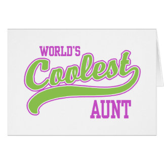 World's Coolest Aunt Card