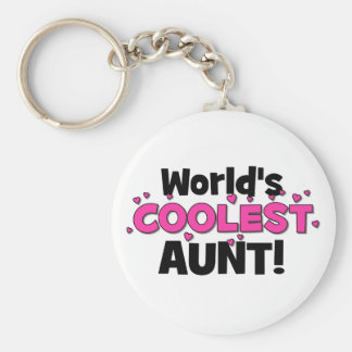 World's Coolest Aunt!  Great gift for Auntie To Be Keychains