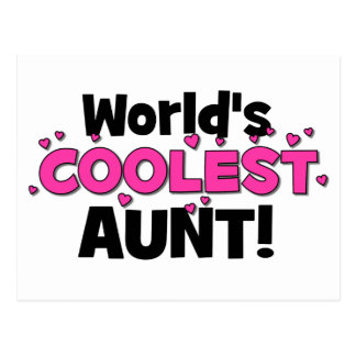 World's Coolest Aunt!  Great gift for Auntie To Be Postcard