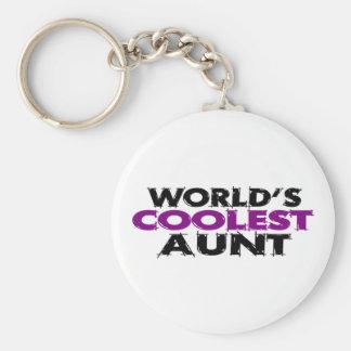 Worlds Coolest Aunt Keychain