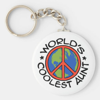 World's Coolest Aunt Keychain