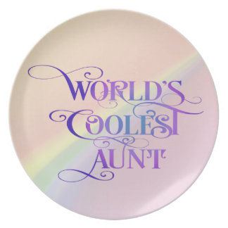 World's Coolest Aunt Melamine Plate