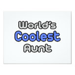 World's Coolest Aunt Personalized Invitation