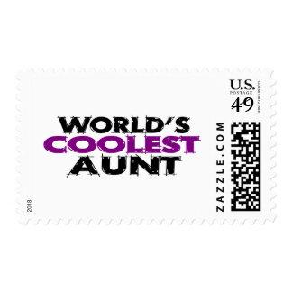 Worlds Coolest Aunt Stamp