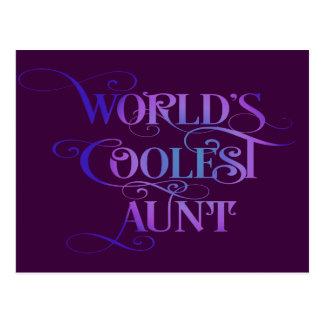 World's Coolest Aunt Postcard