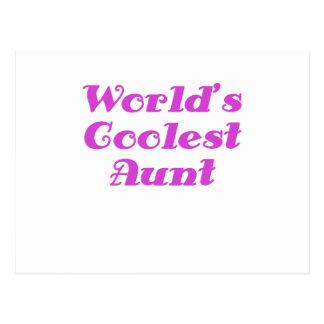Worlds Coolest Aunt Postcard