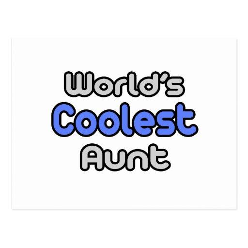 World's Coolest Aunt Postcards