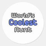 World's Coolest Aunt Round Sticker