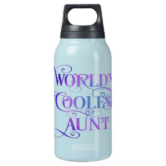 World's Coolest Aunt 10 Oz Insulated SIGG Thermos Water Bottle