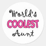World's Coolest Aunt Stickers