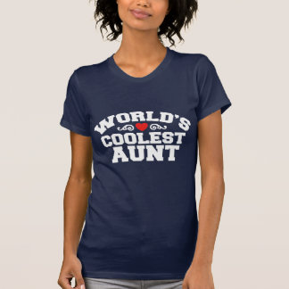 World's coolest Aunt Tee Shirt