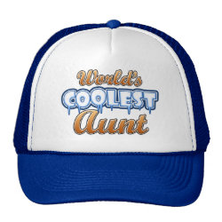 Trucker Hat with World's Coolest Aunt design