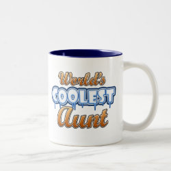 World's Coolest Aunt Two-Tone Mug