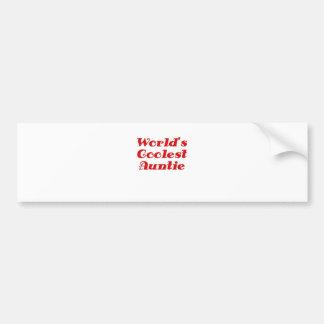 Worlds Coolest Auntie Bumper Sticker