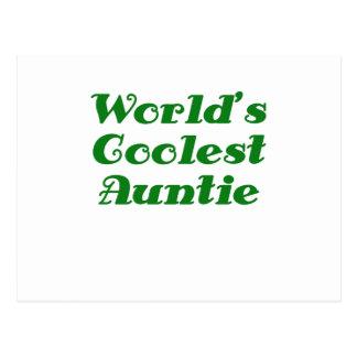 Worlds Coolest Auntie Postcard