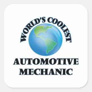 wORLD'S COOLEST aUTOMOTIVE mECHANIC Square Sticker