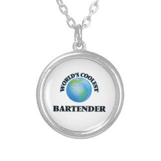 World's coolest Bartender Round Pendant Necklace