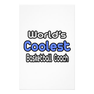 World's Coolest Basketball Coach Stationery