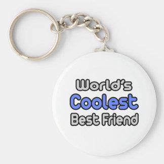 World's Coolest Best Friend Keychain