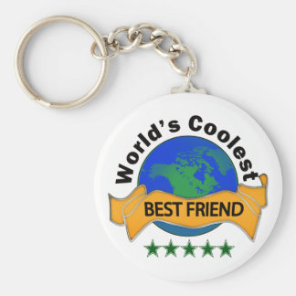 World's Coolest Best Friend Keychain
