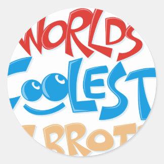 World's Coolest Big Brother Classic Round Sticker