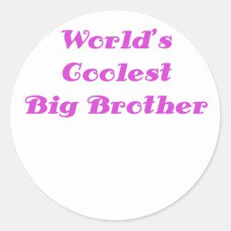 Worlds Coolest Big Brother Classic Round Sticker