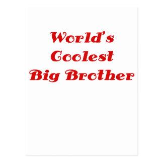 Worlds Coolest Big Brother Postcard