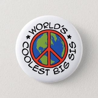 World's Coolest Big Sister Pinback Button
