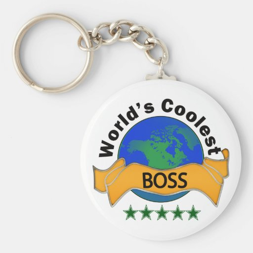 World's Coolest Boss Basic Round Button Keychain