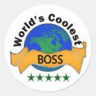World's Coolest Boss Classic Round Sticker