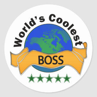 World's Coolest Boss Classic Round Sticker
