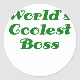 Worlds Coolest Boss Classic Round Sticker