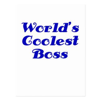 Worlds Coolest Boss Postcard