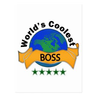 World's Coolest Boss Postcard