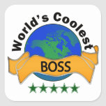 World's Coolest Boss Sticker